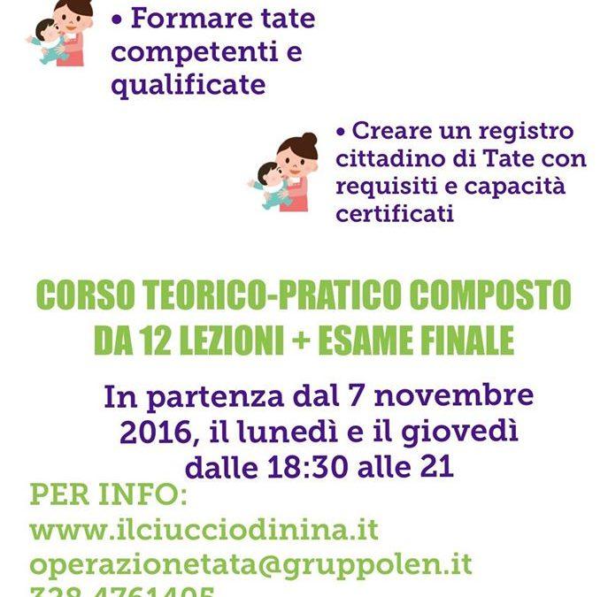 """""""Operazione tata"""" –  Corso teorico pratico"""