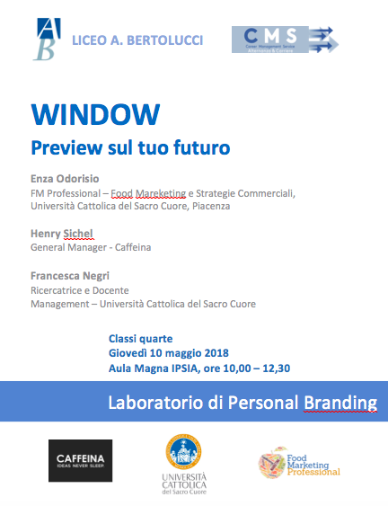 WINDOW: Preview sul tuo futuro. Laboratorio di Personal Branding