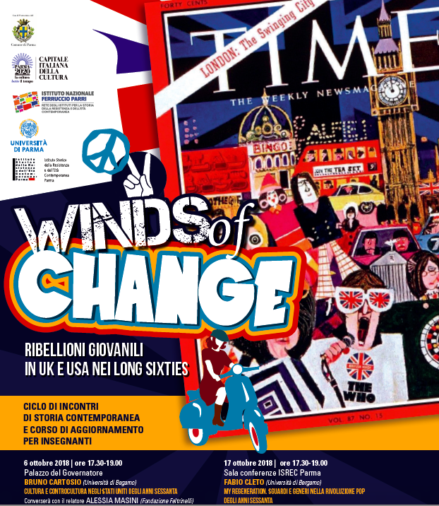 "Ciclo di Conferenze ""Winds of Change – Ribellioni giovanili in Uk e USA nei Long Sixties"""