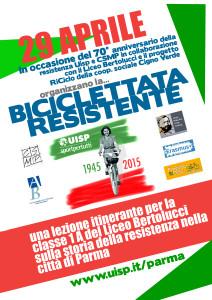 locandina biciclettata